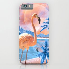 Flamingo World #digitalmagic #collage  iPhone Case