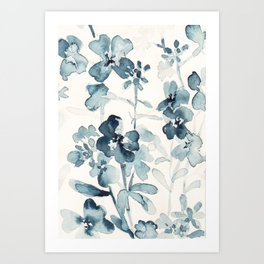 Paynes flower garden watercolor Art Print