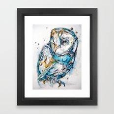 The Sea Glass Owl Framed Art Print
