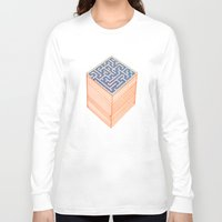 labyrinth Long Sleeve T-shirts featuring labyrinth by Juan Paz