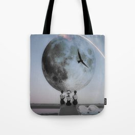 The moon will rise Tote Bag