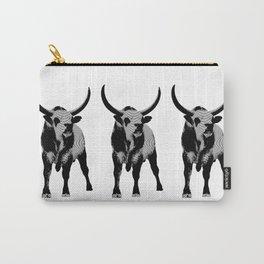 Bulls op art Carry-All Pouch