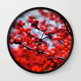 Festive Berries 2 Wall Clock