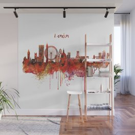 London Skyline watercolor Wall Mural