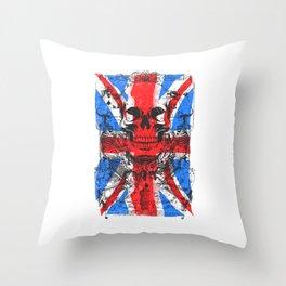 UK skull Throw Pillow