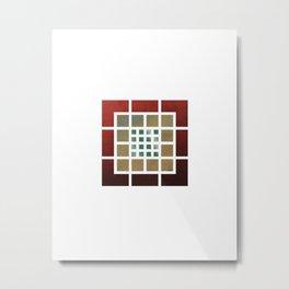 Grid Grid Grid Metal Print