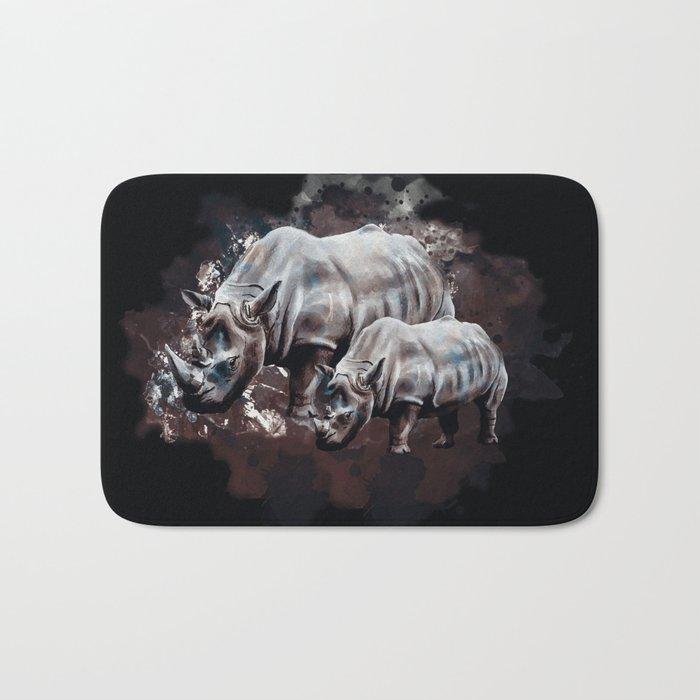 Dangerous Rhino Bath Mat