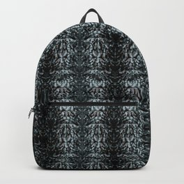 Abstract blue black pattern. Backpack