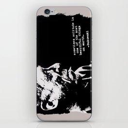 BUKOWSKI - solitude QUOTE iPhone Skin