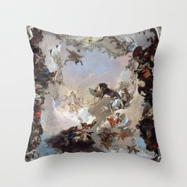 Giovanni Battista Tiepolo - Allegory of the Planets and Continents 1752 Throw Pillow