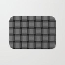 Large Dark Gray Weave Bath Mat