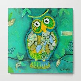 """Wisdom Owl"" Metal Print"