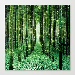 Magical Forest Green Elegance Canvas Print