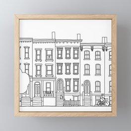 blocks of Brooklyn Framed Mini Art Print