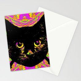 Purple Streak Quad Cat Stationery Cards