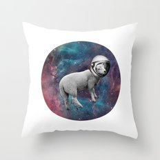 The Space Sheep 2.0 Throw Pillow