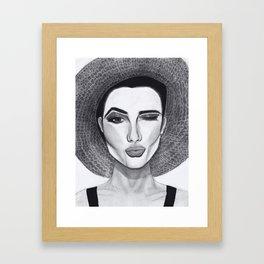 Kissy Winky Face Framed Art Print