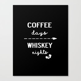 coffee whiskey Canvas Print