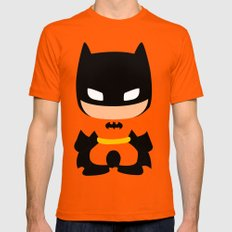 The DarkKnight SMALL Mens Fitted Tee Orange