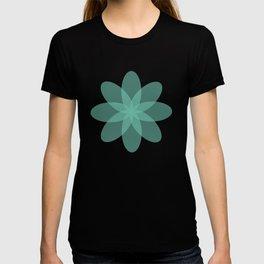 Läpikuultava kukka turkoosilla pohjalla T-shirt