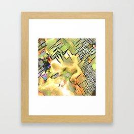 Fire Reflection Framed Art Print
