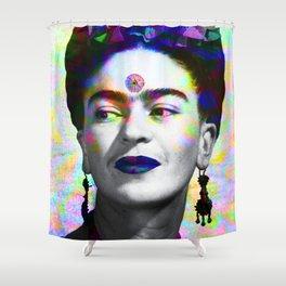Frida Kahlo iridescence Shower Curtain