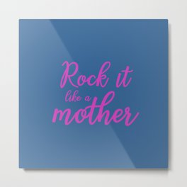 Mom Gifts - Blue and Pink Metal Print