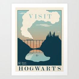Visit Hogwarts Art Print