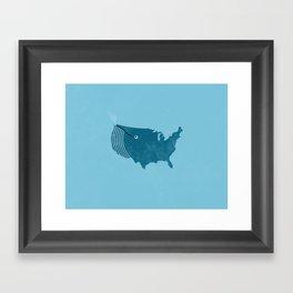 AmeriWhale The Beautiful Framed Art Print