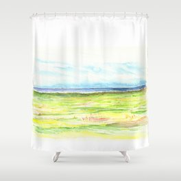 Sea meadow Shower Curtain