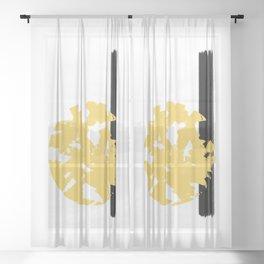 Abstract Sun #society6 #abstractart Sheer Curtain