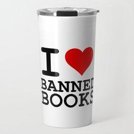 I Heart Banned Books Travel Mug
