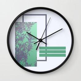 Violet Foliage #society6 #spring Wall Clock
