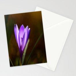 Bright Purple Spring Crocus Stationery Cards