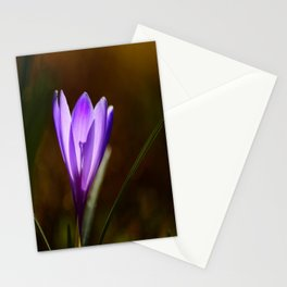 Bright Purple Spring Crocus #decor #society6 #buyart Stationery Cards
