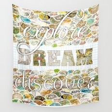 Explore Dream Discover Wall Tapestry