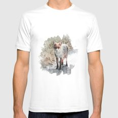 How I met a Fox White MEDIUM Mens Fitted Tee