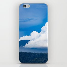 Steam Rising off of Mombacho Volcano with Blue Stormy Skies in Nicaragua iPhone Skin