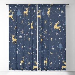 Winter Reindeer Blackout Curtain