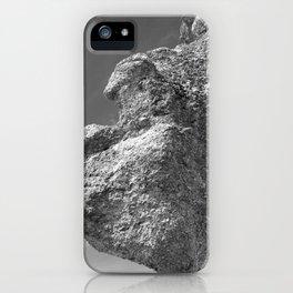 SHAPE OF A FACE ROCK iPhone Case