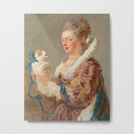 A Woman with a Dog, Jean Honore Fragonard, 1769 Metal Print