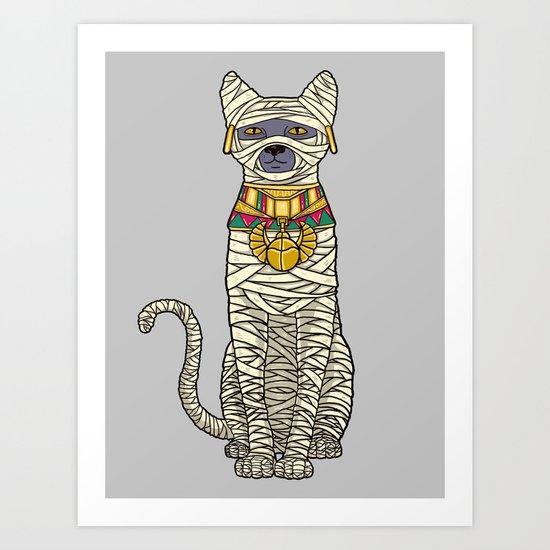 Ancient Cat Returns Art Print