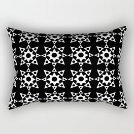 Stars 44- Black and white Rectangular Pillow