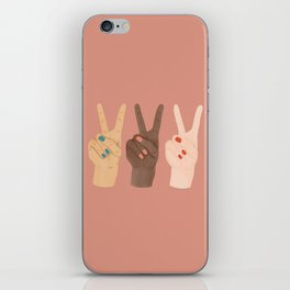 Peace Hands iPhone Skin