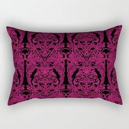 The Grand Salon, Magenta Mourning Rectangular Pillow