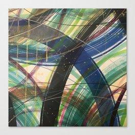 Green Leap Canvas Print