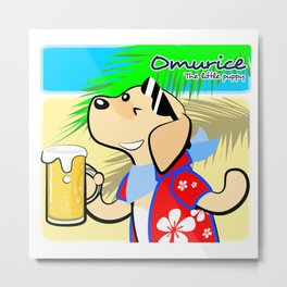 Omurice the little puppy - Cheers Metal Print