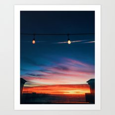 Sunset at Pismo Beach Art Print