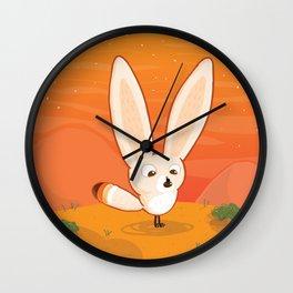 Fennec Fox Meets a Beetle Wall Clock