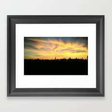 NYC Sunset Skyline  Framed Art Print